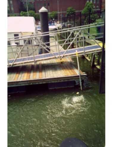 Circulateur / Déglaçeur d'eau Kasco Marine 2400ECUD - support de quai